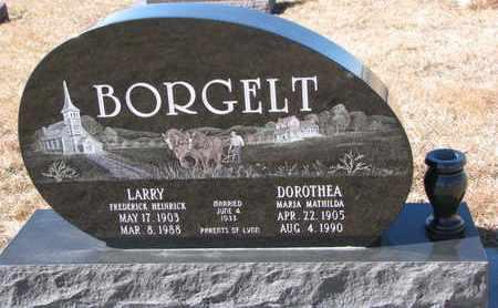BORGELT, DOROTHEA MARIA MATHILDA - Cuming County, Nebraska | DOROTHEA MARIA MATHILDA BORGELT - Nebraska Gravestone Photos