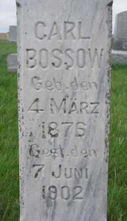 BOSSOW, CARL (CLOSE UP) - Cuming County, Nebraska   CARL (CLOSE UP) BOSSOW - Nebraska Gravestone Photos