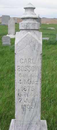 BOSSOW, CARL - Cuming County, Nebraska | CARL BOSSOW - Nebraska Gravestone Photos
