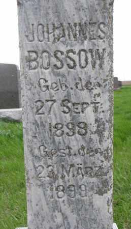 BOSSOW, JOHANNES (CLOSE UP) - Cuming County, Nebraska | JOHANNES (CLOSE UP) BOSSOW - Nebraska Gravestone Photos