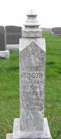 BOSSOW, JOHANNES - Cuming County, Nebraska   JOHANNES BOSSOW - Nebraska Gravestone Photos