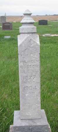 BOSSOW, WILHELM - Cuming County, Nebraska   WILHELM BOSSOW - Nebraska Gravestone Photos
