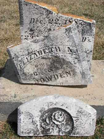 BOWDEN, ELIZABETH A. - Cuming County, Nebraska | ELIZABETH A. BOWDEN - Nebraska Gravestone Photos