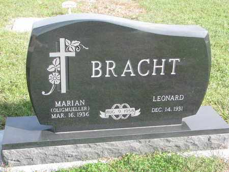 BRACHT, LEONARD - Cuming County, Nebraska | LEONARD BRACHT - Nebraska Gravestone Photos