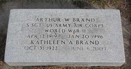 BRAND, ARTHUR W. - Cuming County, Nebraska | ARTHUR W. BRAND - Nebraska Gravestone Photos