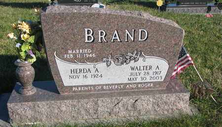 BRAND, HERDA A. - Cuming County, Nebraska | HERDA A. BRAND - Nebraska Gravestone Photos