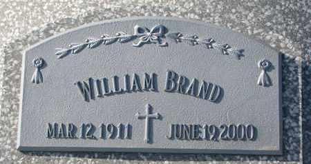 BRAND, WILLIAM - Cuming County, Nebraska | WILLIAM BRAND - Nebraska Gravestone Photos