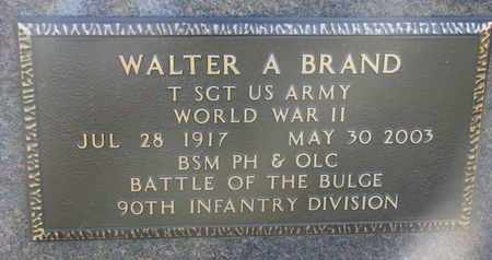 BRAND, WALTER A. (MILITARY MARKER) - Cuming County, Nebraska | WALTER A. (MILITARY MARKER) BRAND - Nebraska Gravestone Photos
