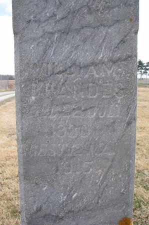 BRANDES, WILLIAM (CLOSEUP) - Cuming County, Nebraska | WILLIAM (CLOSEUP) BRANDES - Nebraska Gravestone Photos
