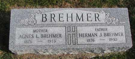 BREHMER, AGNES L. - Cuming County, Nebraska   AGNES L. BREHMER - Nebraska Gravestone Photos