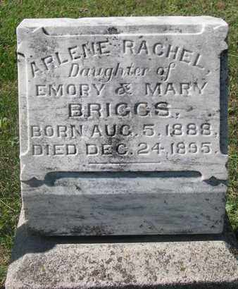 BRIGGS, ARLENE RACHEL - Cuming County, Nebraska | ARLENE RACHEL BRIGGS - Nebraska Gravestone Photos