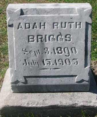 BRIGGS, ADAH RUTH - Cuming County, Nebraska | ADAH RUTH BRIGGS - Nebraska Gravestone Photos