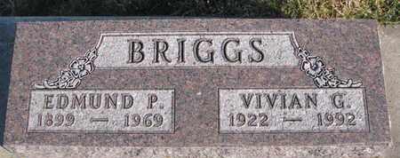 BRIGGS, EDMUND P. - Cuming County, Nebraska | EDMUND P. BRIGGS - Nebraska Gravestone Photos