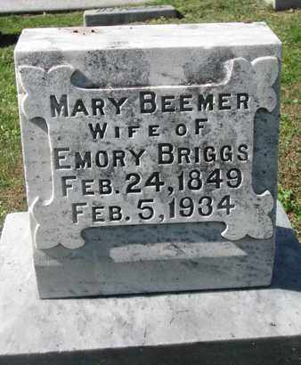 BRIGGS, MARY - Cuming County, Nebraska | MARY BRIGGS - Nebraska Gravestone Photos