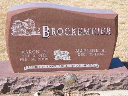 BROCKEMEIER, AARON F. - Cuming County, Nebraska | AARON F. BROCKEMEIER - Nebraska Gravestone Photos