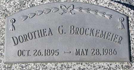 BROCKEMEIER, DOROTHEA G. - Cuming County, Nebraska | DOROTHEA G. BROCKEMEIER - Nebraska Gravestone Photos