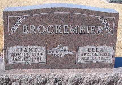 BROCKEMEIER, ELLA - Cuming County, Nebraska | ELLA BROCKEMEIER - Nebraska Gravestone Photos