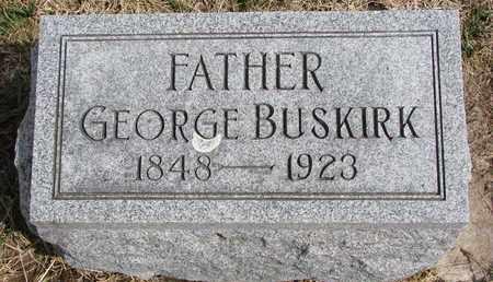 BUSKIRK, GEORGE - Cuming County, Nebraska   GEORGE BUSKIRK - Nebraska Gravestone Photos
