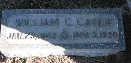 CAVEN, WILLIAM C. - Cuming County, Nebraska | WILLIAM C. CAVEN - Nebraska Gravestone Photos