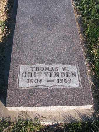 CHITTENDEN, THOMAS W. - Cuming County, Nebraska | THOMAS W. CHITTENDEN - Nebraska Gravestone Photos