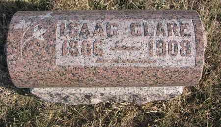 CLARE, ISAAC - Cuming County, Nebraska | ISAAC CLARE - Nebraska Gravestone Photos