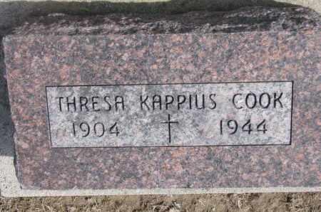KAPPIUS COOK, THRESA - Cuming County, Nebraska | THRESA KAPPIUS COOK - Nebraska Gravestone Photos