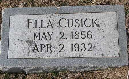 CUSICK, ELLA - Cuming County, Nebraska | ELLA CUSICK - Nebraska Gravestone Photos
