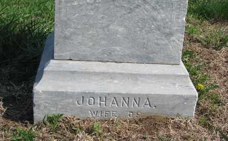 CUSICK, JOHANNA (CLOSE UP) - Cuming County, Nebraska | JOHANNA (CLOSE UP) CUSICK - Nebraska Gravestone Photos