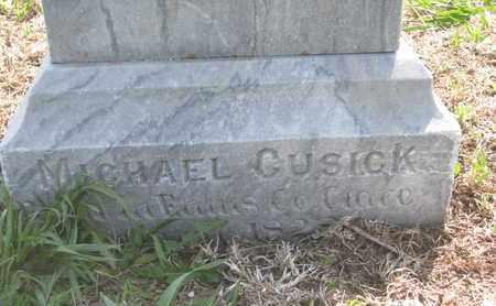 CUSICK, MICHAEL (CLOSE UP) - Cuming County, Nebraska | MICHAEL (CLOSE UP) CUSICK - Nebraska Gravestone Photos