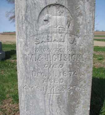 CUSICK, SARAH J. (CLOSE UP) - Cuming County, Nebraska   SARAH J. (CLOSE UP) CUSICK - Nebraska Gravestone Photos