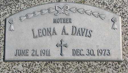 DAVIS, LEONA A. - Cuming County, Nebraska | LEONA A. DAVIS - Nebraska Gravestone Photos