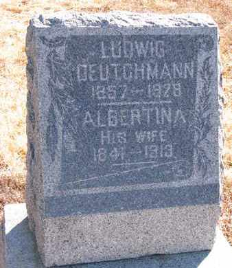 DEUTCHMANN, LUDWIG - Cuming County, Nebraska | LUDWIG DEUTCHMANN - Nebraska Gravestone Photos