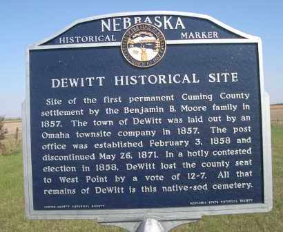 *DEWITT HISTORICAL CEMETERY, SIGN IN - Cuming County, Nebraska | SIGN IN *DEWITT HISTORICAL CEMETERY - Nebraska Gravestone Photos