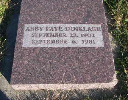 DINKLAGE, ABBY FAYE - Cuming County, Nebraska | ABBY FAYE DINKLAGE - Nebraska Gravestone Photos