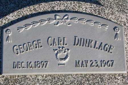 DINKLAGE, GEORGE CARL - Cuming County, Nebraska | GEORGE CARL DINKLAGE - Nebraska Gravestone Photos
