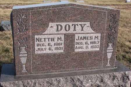 DOTY, JAMES M. - Cuming County, Nebraska   JAMES M. DOTY - Nebraska Gravestone Photos