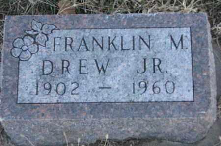 DREW, FRANKLIN M. JR. - Cuming County, Nebraska | FRANKLIN M. JR. DREW - Nebraska Gravestone Photos