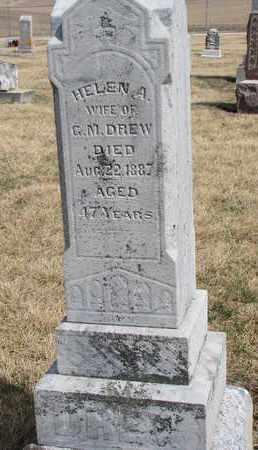 DREW, HELEN A. - Cuming County, Nebraska | HELEN A. DREW - Nebraska Gravestone Photos