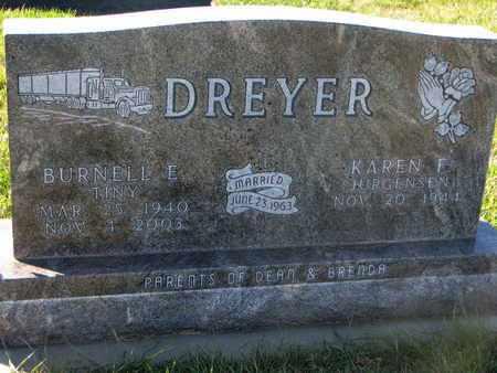 "DREYER, BURNELL E. ""TINY"" - Cuming County, Nebraska | BURNELL E. ""TINY"" DREYER - Nebraska Gravestone Photos"