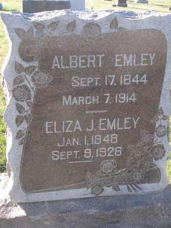 EMLEY, ALBERT - Cuming County, Nebraska | ALBERT EMLEY - Nebraska Gravestone Photos