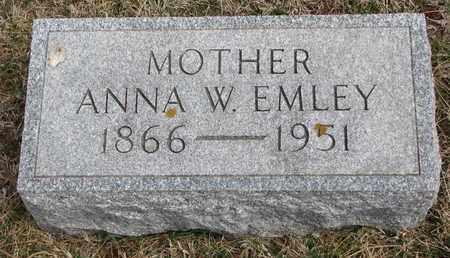 EMLEY, ANNA W. - Cuming County, Nebraska   ANNA W. EMLEY - Nebraska Gravestone Photos