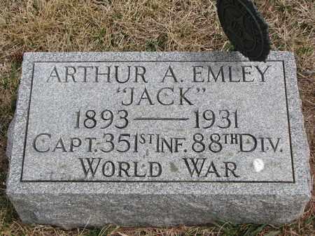 "EMLEY, ARTHUR A. ""JACK"" - Cuming County, Nebraska | ARTHUR A. ""JACK"" EMLEY - Nebraska Gravestone Photos"
