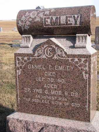 EMLEY, DANIEL C. - Cuming County, Nebraska   DANIEL C. EMLEY - Nebraska Gravestone Photos