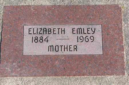 EMLEY, ELIZABETH - Cuming County, Nebraska | ELIZABETH EMLEY - Nebraska Gravestone Photos