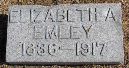 EMLEY, ELIZABETH A. - Cuming County, Nebraska | ELIZABETH A. EMLEY - Nebraska Gravestone Photos