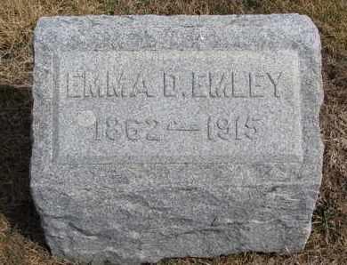 EMLEY, EMMA D. - Cuming County, Nebraska | EMMA D. EMLEY - Nebraska Gravestone Photos
