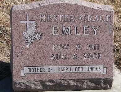 EMLEY, HESTER GRACE - Cuming County, Nebraska   HESTER GRACE EMLEY - Nebraska Gravestone Photos