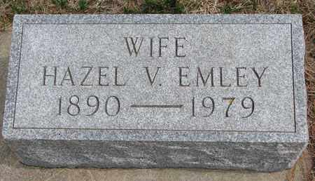 EMLEY, HAZEL V. - Cuming County, Nebraska | HAZEL V. EMLEY - Nebraska Gravestone Photos