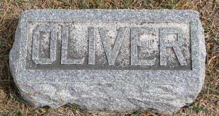 EMLEY, OLIVER (FOOTSTONE) - Cuming County, Nebraska | OLIVER (FOOTSTONE) EMLEY - Nebraska Gravestone Photos