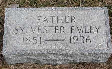 EMLEY, SYLVESTER - Cuming County, Nebraska | SYLVESTER EMLEY - Nebraska Gravestone Photos